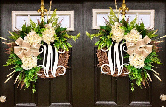 NEW! Double Door Wreaths, Spring Wreaths for Front Door, Farm House Decor, Home Decor, Spring Wreaths for Front Door, Farm House Wteaths