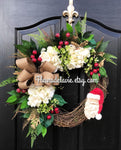 NEW!! Christmas Wreaths Front Door, Front Door Wreaths, Christmas Door Wreaths, Hydrange Wreath, Grapevine Wreath, Wreaths for Door