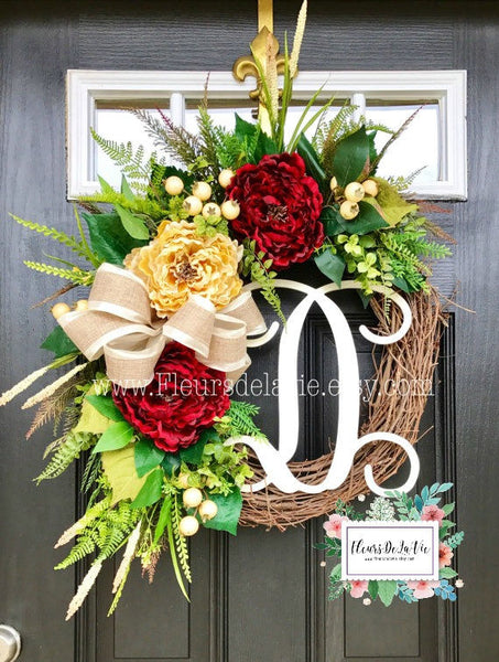 Front Door Wreath, Wreath for Door, Year Round Wreath, Wreaths, Home Decor, House Warming Gift, Grapevine Wreath