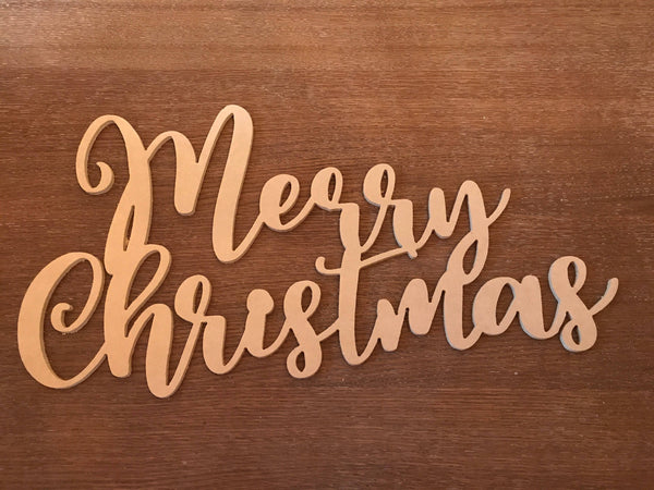 Wood Sign, Merry Christmas