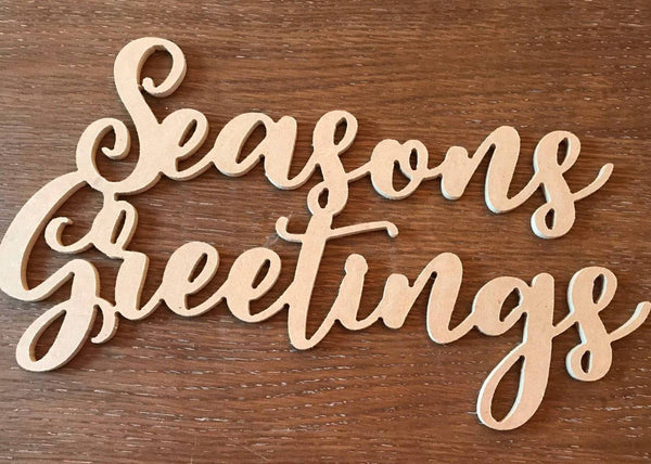 Seasons Greetings, Wood Sign, Wood Signs, Monograms, Home Decor, House Warming, Interior Design, Holiday Greetings