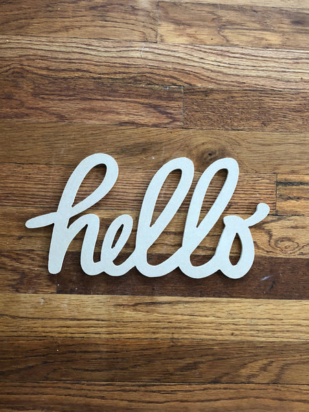 Hello Sign, Hello Wood Sign, Wood Signs, Monograms, Home Decor, House Warming, Interior Design