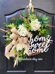 BEST SELLER! Spring Wreaths for Front Door, Front Door Wreaths, Farmhouse Wreaths, Hydrangea Wreath, Grapevine Wreath, Home Sweet Home
