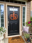 Pumpkin Door Hanger, MDF cut out, Hello Fall Door Hanging
