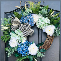New! Farm House Wreath, Front Door Wreaths, Spring Door Wreaths, Spring Wreath for Door, Farm House Decor, OutDoor Wreath