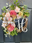 Front Door Summer Wreaths, Door Wreaths, Peony wreaths, Farm House Wreaths