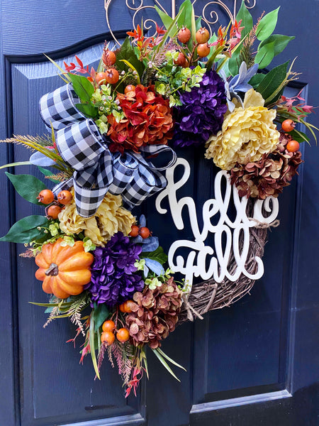 New! Fall Door Wreath, Wreath for Front Door Wreath, Year Round Wreath, Wreaths, Home Decor, Fall Door Wreaths, Fall Wreaths