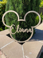 NEW!  Custom MDF wall hanging, Mickey Mouse, Mickey Mouse wall decor, Custom Name