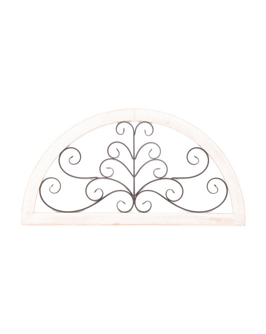 Wood and Metal Wall Arch