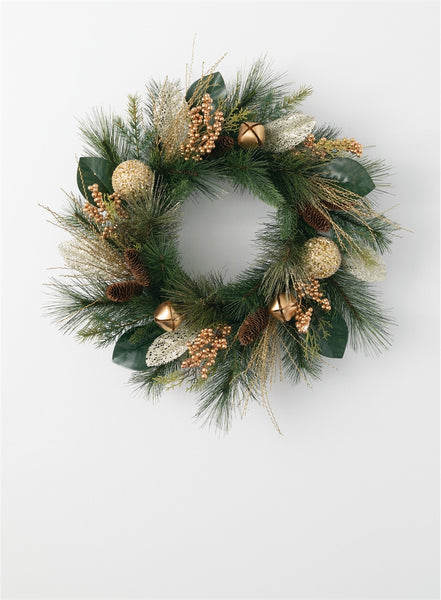 NEW!  Winter Evergreen Wreath, Wreath for Winter, Pinecone Wreaths, Pre-Made Wreaths, Supplies for Making