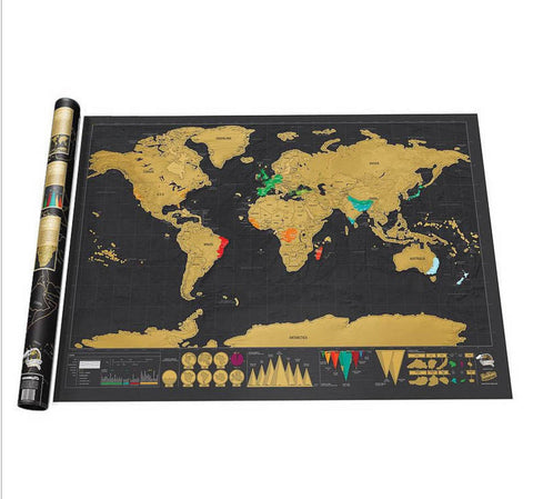 Scratch Map Of The World - Travel Edition Deluxe - Travel Worldwide Shop