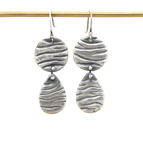 Double Tidal Teardrop Earrings
