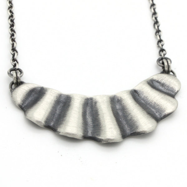Scallop Necklace | Oxidized Silver