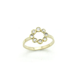 Petite Diamond Halo Ring | Size 7.75