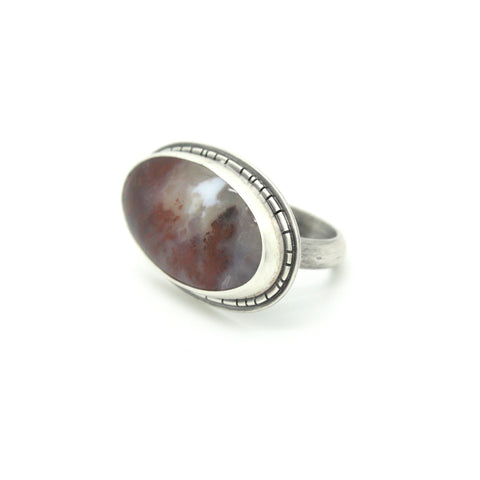 Carrie Plume Agate Ring | Size 8