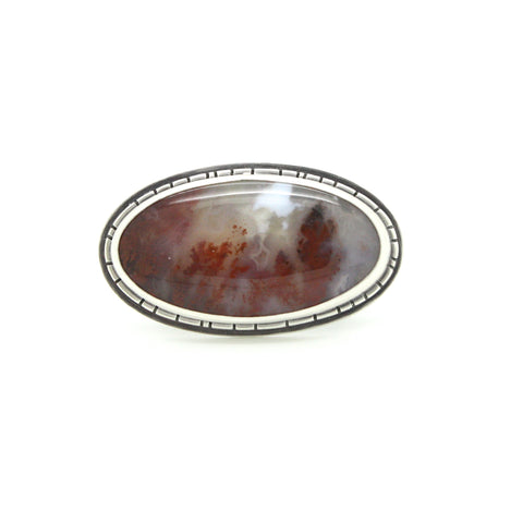 Carey Plume Agate Ring | Size 8