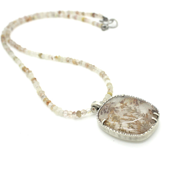 Dendritic Quartz Statement Necklace