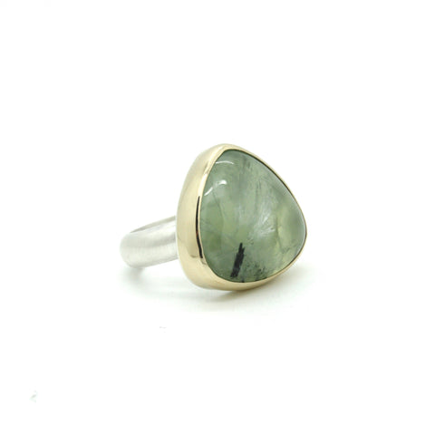 Prehnite Statement Ring | Size 8.5