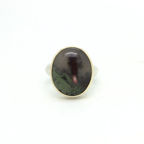 Moss Agate Ring | Size 8.5