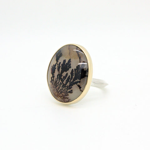 Grand Dendritic Agate Ring | Size 8