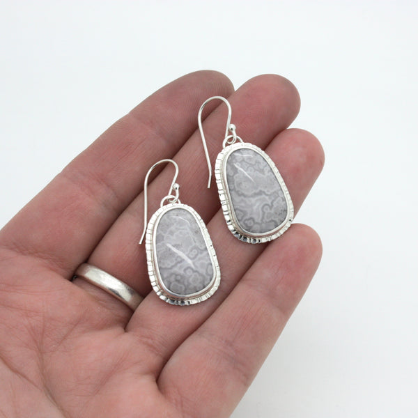 Lace Agate Earrings