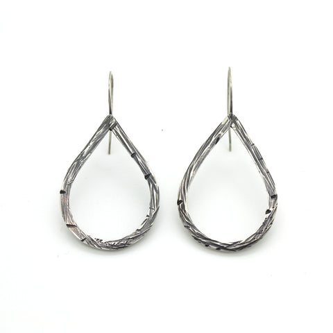 Large Driftwood Teardrop Earrings