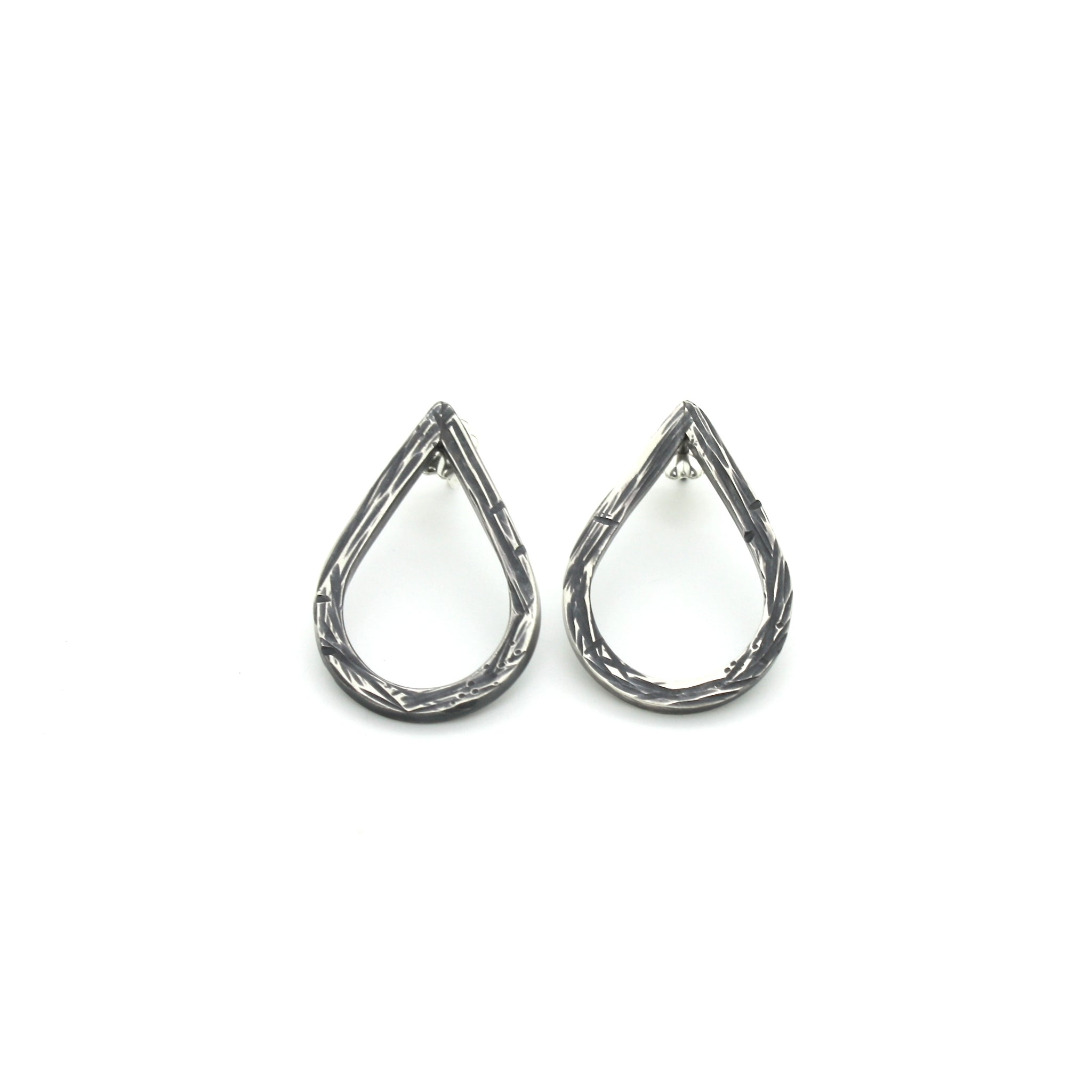 Driftwood Teardrop Stud Earrings