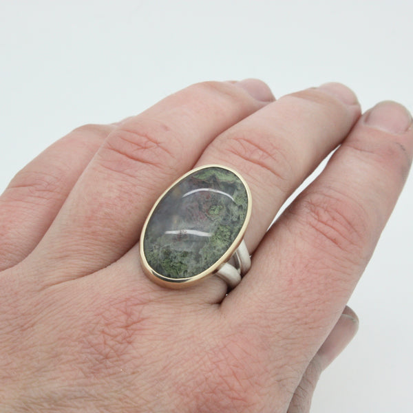 Moss Agate Ring | Size 8.25