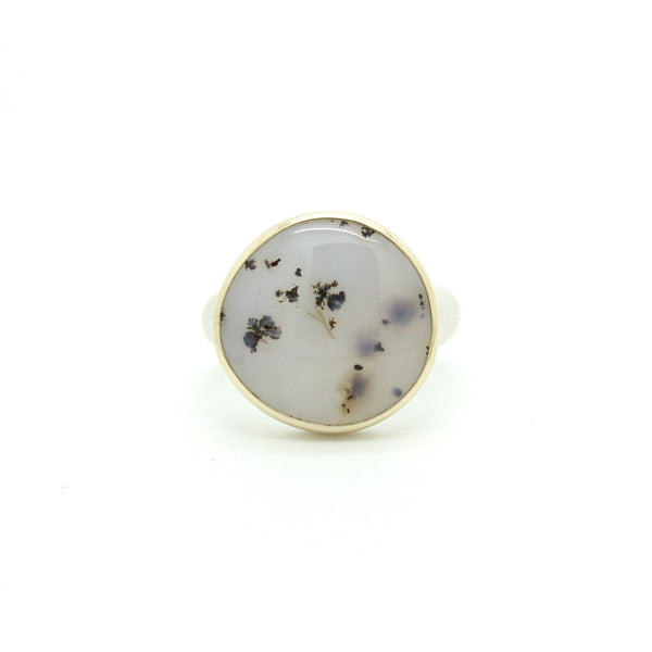 Dendritic Agate Ring | Size 7.75