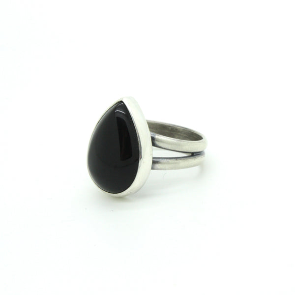 Black Onyx Ring | Size 7.75