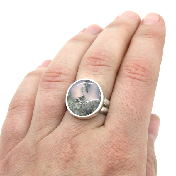 Moss Agate Ring | Size 8