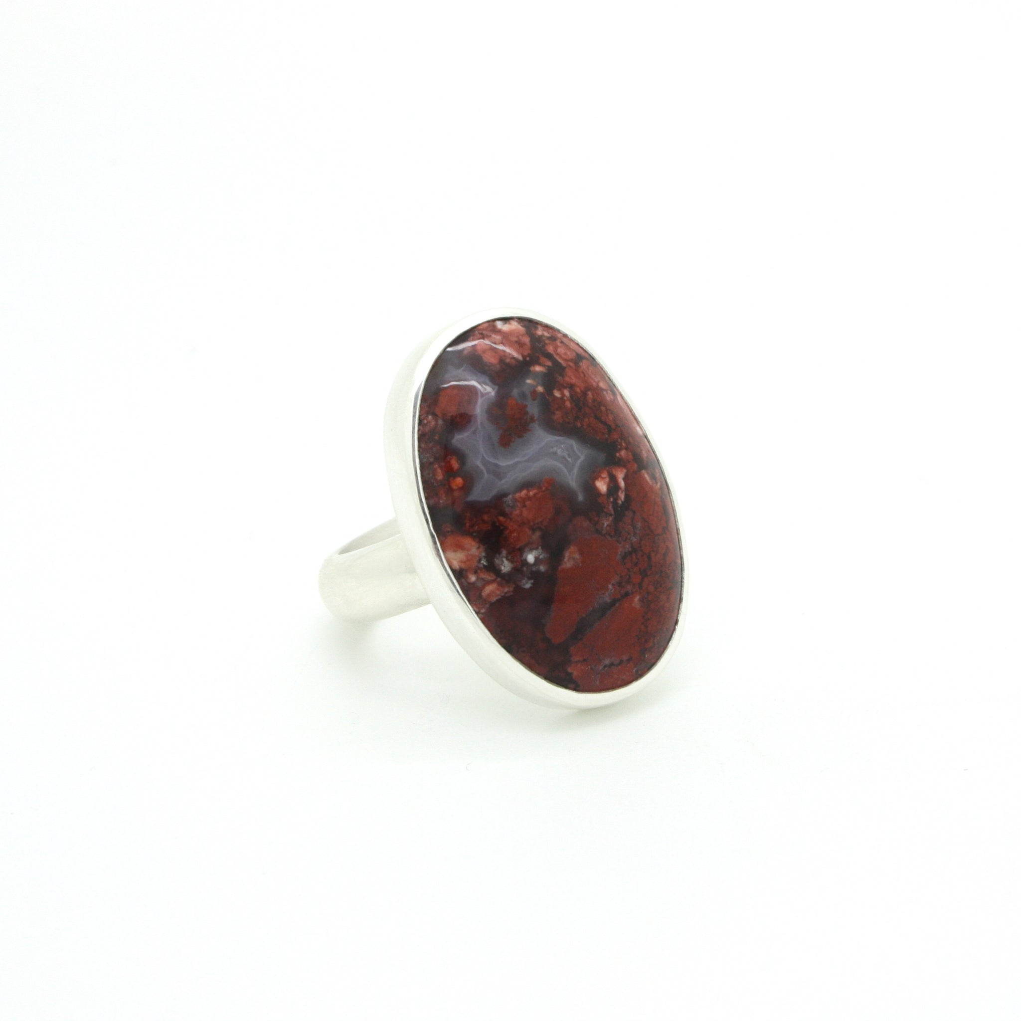 Red Moss Agate Ring | Size 8.75