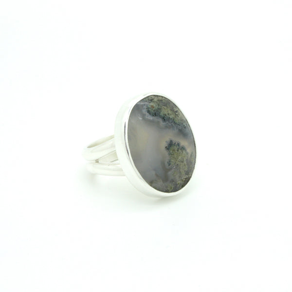 Moss Agate Ring | Size 9