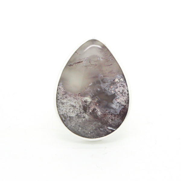 Lavender Moss Agate Ring  | Size 6.5