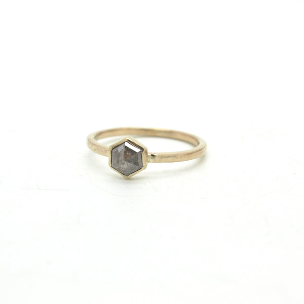 Hexagonal Diamond Ring Set | Size 6.5