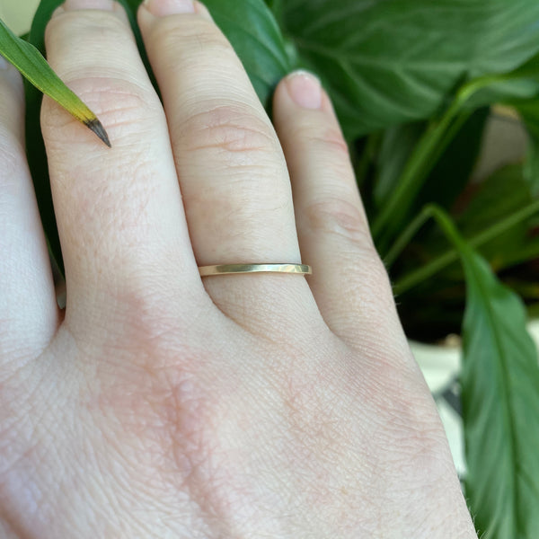 Square Band in 14k Gold