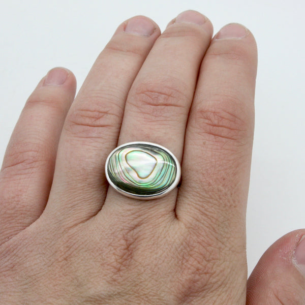 Abalone Ring | Size 8