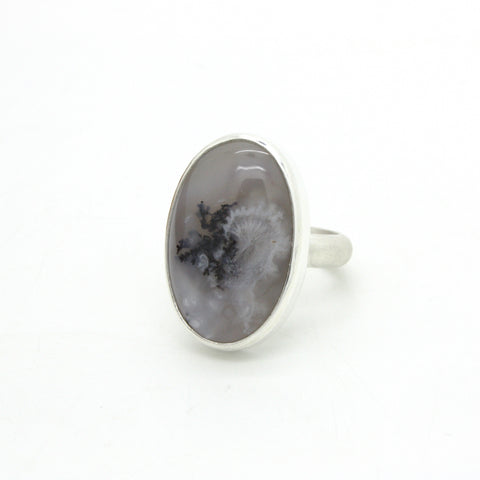 Dendritic Agate Ring | Size 7