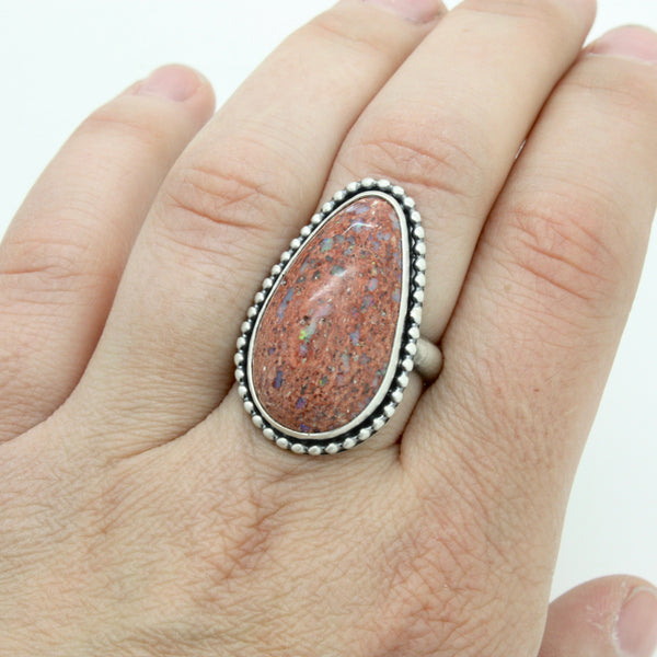 Mexican Cantera Opal Ring | Size 8.25