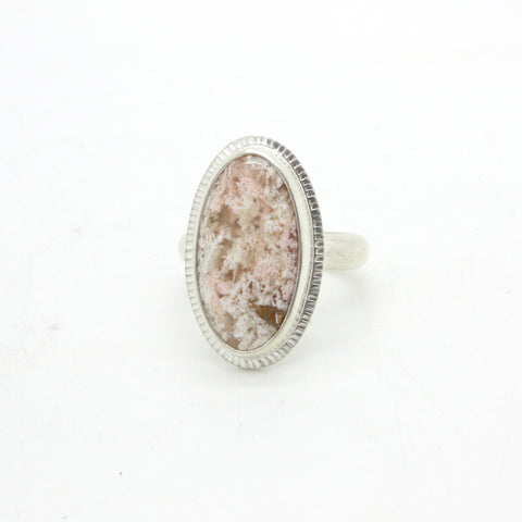 Plume Agate Ring | Size 8.25