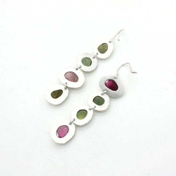 Multicolor Tourmaline Drop Earrings