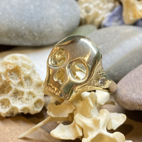 Memento Mori Ring | 14k Gold