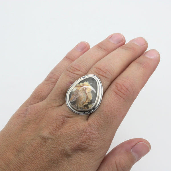 Plume Agate Ring | Size 7.75