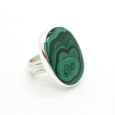 Malachite Ring no.1  | Size 7.75