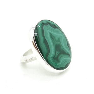 Malachite Ring no.3  | Size 8.75