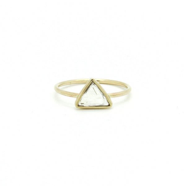 Raw Macle Diamond Ring | Size 8.5