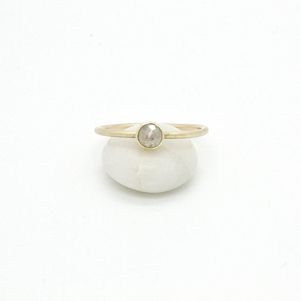 White Rose Cut Diamond Band | Size 7.5