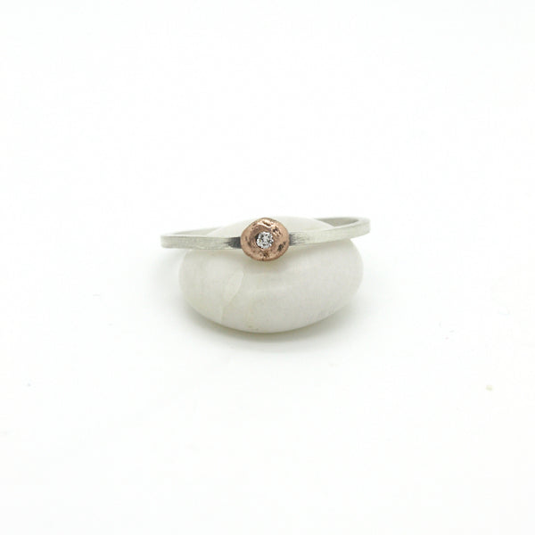 Diamond Nugget Ring | 14k Rose Gold