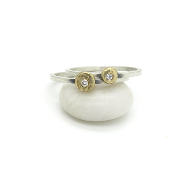 Diamond Nugget Ring | 18K Yellow Gold