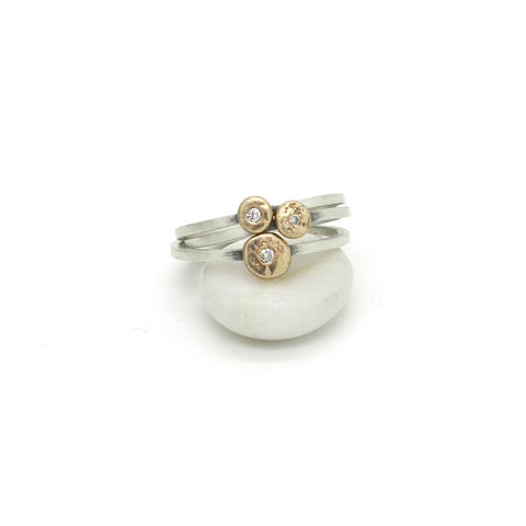 Diamond Nugget Ring | 14k Yellow Gold